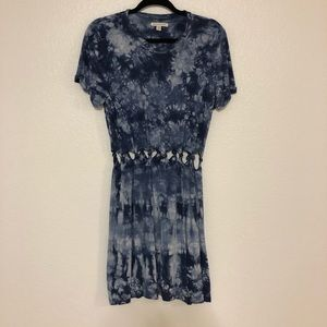 Blue and white tie dye dress american eagle